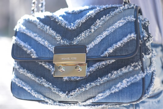 Michael Kors denim frayed bag - Thankfifi, Scottish fashion blog-2