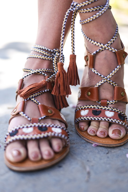 Next leather lace up gladiator sandals - Thankfifi, Scottish fashion blog-3