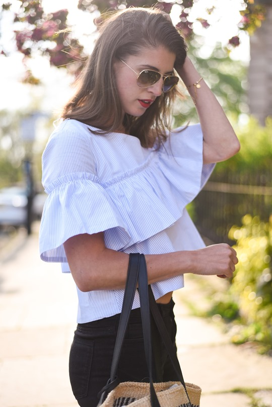 Zara one shouldered ruffle top - Thankfifi, Scottish fashion blog-2-2