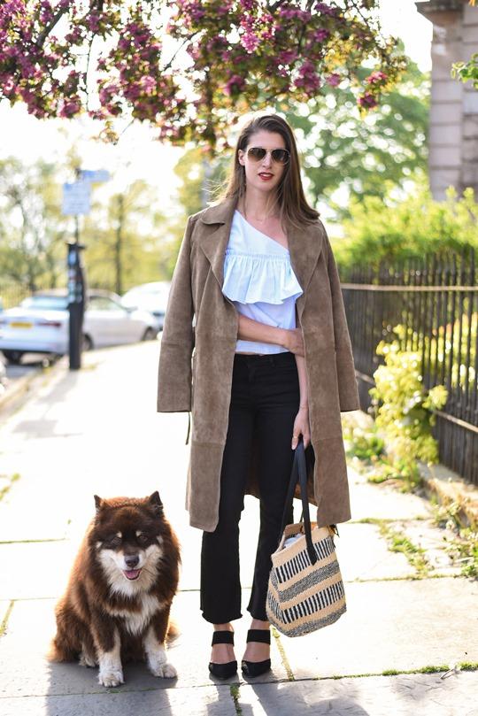 Zara one shouldered ruffle top - Thankfifi, Scottish fashion blog-2