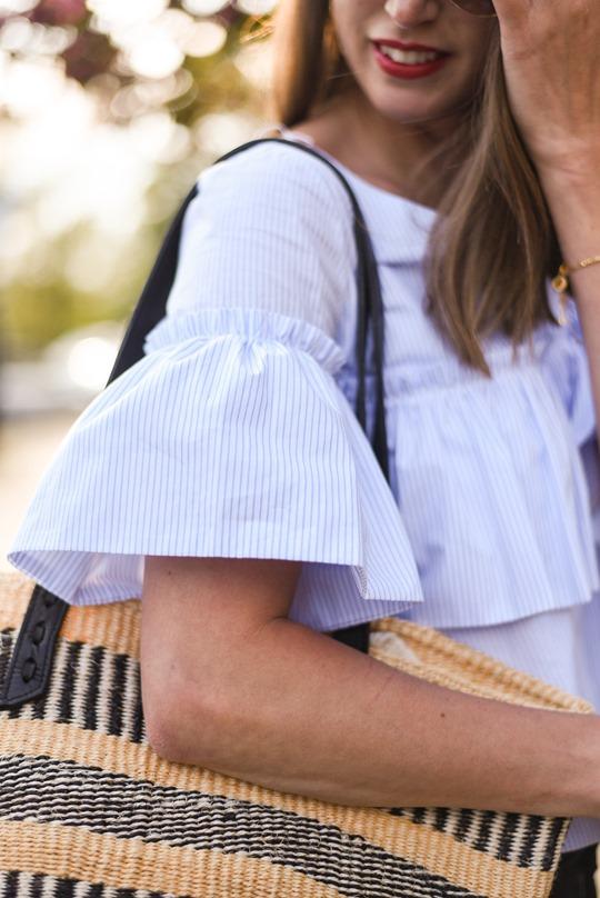 Zara one shouldered ruffle top - Thankfifi, Scottish fashion blog-3-2