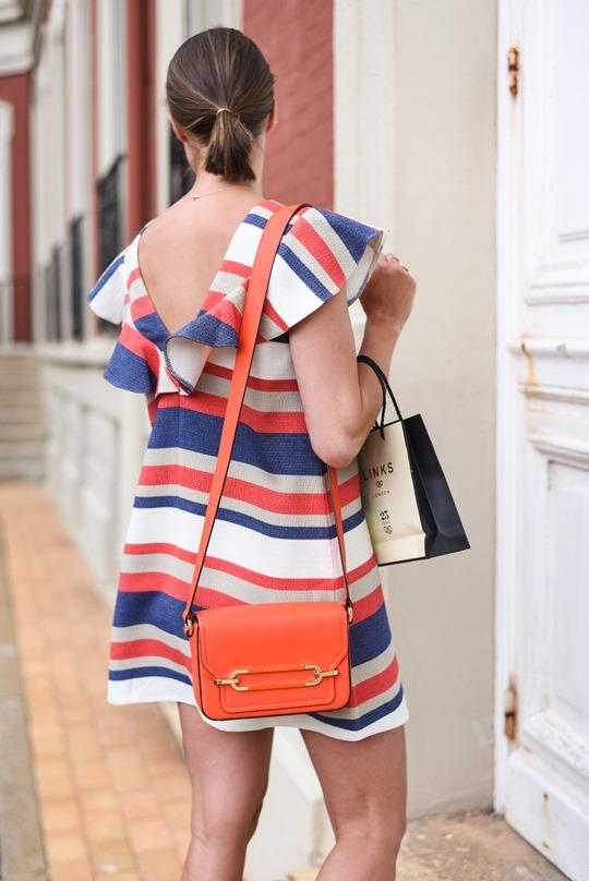 Asos stripe frill dress - Hotel du Palais Biarritz - Thankfifi Scottish travel blog-3
