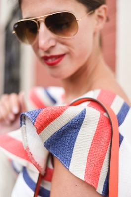 Asos stripe frill dress - Hotel du Palais Biarritz - Thankfifi Scottish travel blog-5