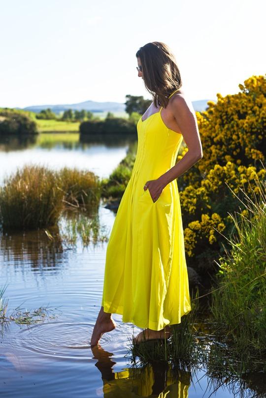 Banana Republic yellow maxi dress, Zalando - Thankfifi Scottish fashion blog-13