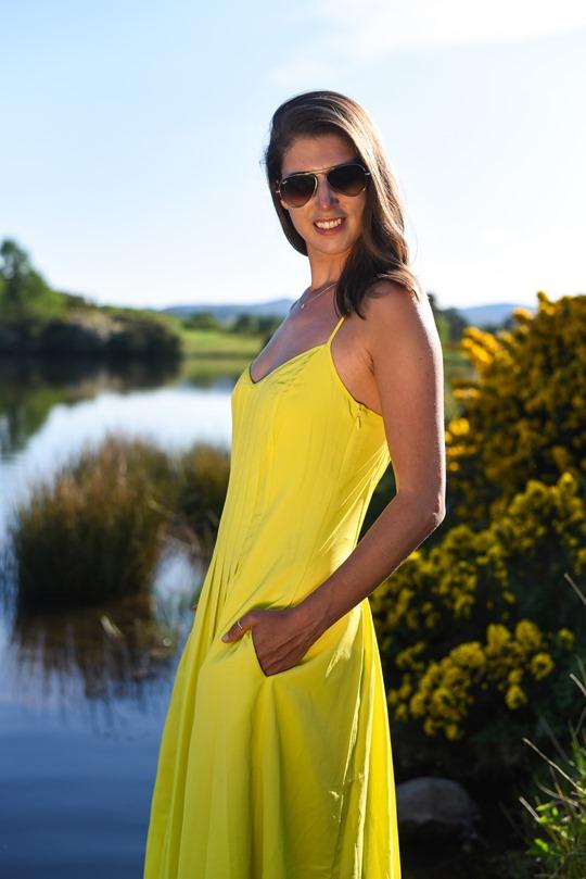 Banana Republic yellow maxi dress, Zalando - Thankfifi Scottish fashion blog-15