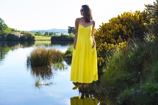 Banana Republic yellow maxi dress, Zalando - Thankfifi Scottish fashion blog-17