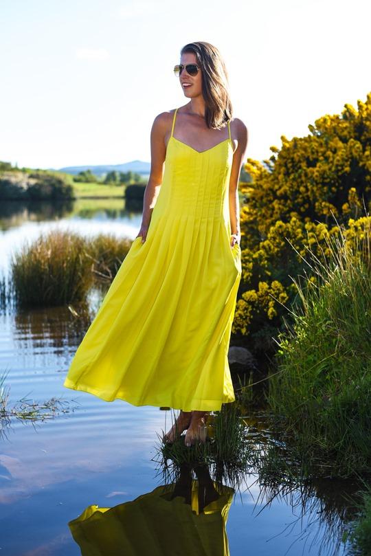 Banana Republic yellow maxi dress, Zalando - Thankfifi Scottish fashion blog-19