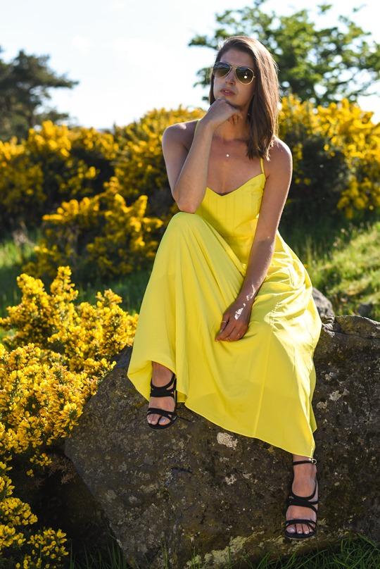 Banana Republic yellow maxi dress, Zalando - Thankfifi Scottish fashion blog-2