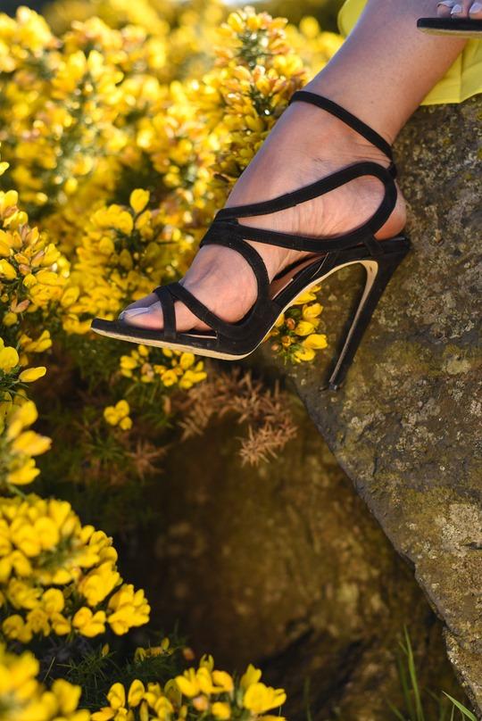 Banana Republic yellow maxi dress, Zalando - Thankfifi Scottish fashion blog-4
