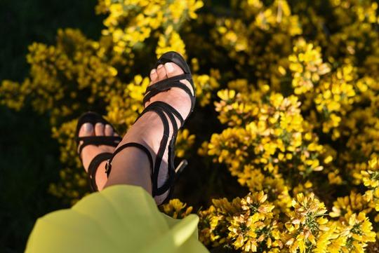 Banana Republic yellow maxi dress, Zalando - Thankfifi Scottish fashion blog-7