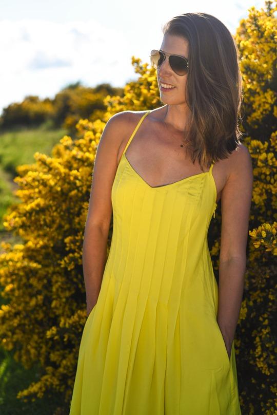 Banana Republic yellow maxi dress, Zalando - Thankfifi Scottish fashion blog-8