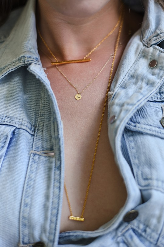 Gap 1969 denim jacket & Gorjana double necklace, Audrey Style - Thankfifi luxury lifestyle blog-4