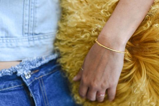 Gap 1969 denim jacket & Gorjana double necklace, Audrey Style - Thankfifi luxury lifestyle blog-5