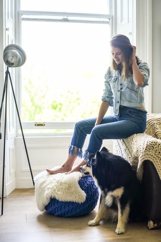 River Island frayed hem jeans, Audrey Style - Thankfifi luxury lifestyle blog
