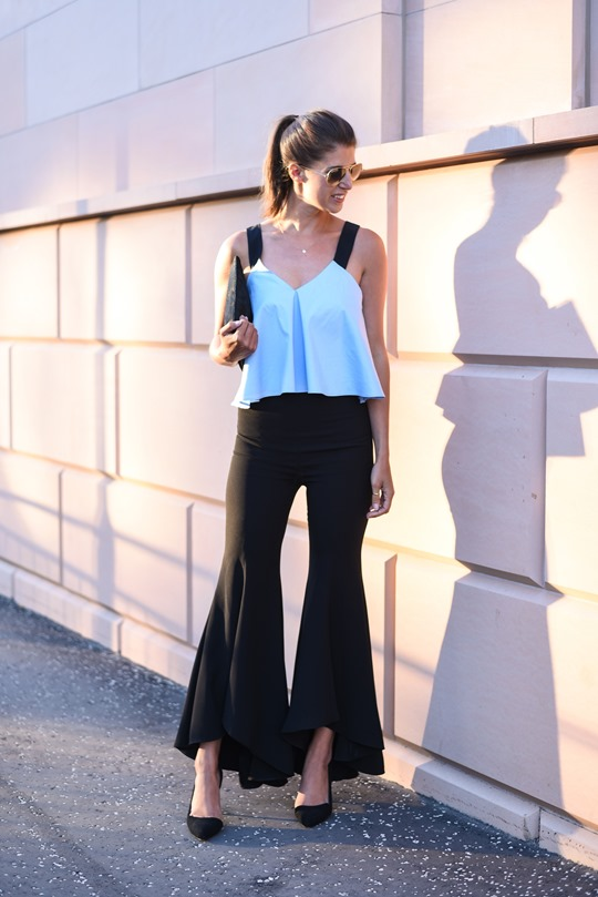 Zara Ellery flare trousers - Thankfifi Glasgow fashion blog