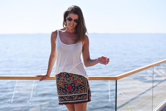 Zara embroidered floral mini skirt Loyly Helsinki - Thankfifi Scottish travel blog-2