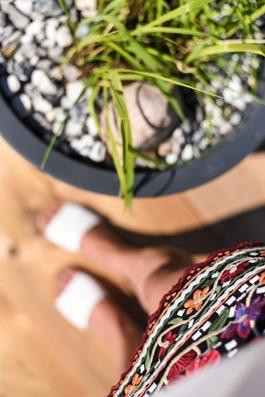 Zara embroidered floral mini skirt Loyly Helsinki - Thankfifi Scottish travel blog-5