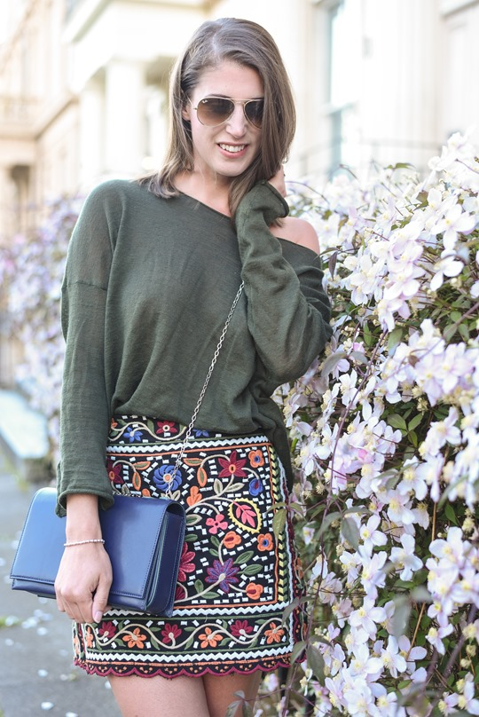 Zara embroidered mini skirt - Thankfifi Scottish fashion blog-6