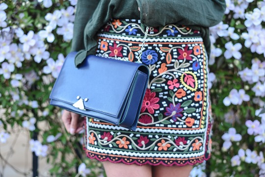 Zara embroidered mini skirt - Thankfifi Scottish fashion blog-7
