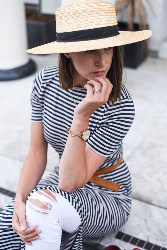 American Eagle straw boater hat - Thankfifi Scottish fashion blog-3