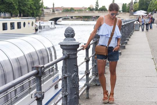 Glamorous ruffle cami top in Berlin - Thankfifi Scottish fashion travel blog-2
