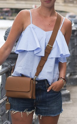 Glamorous ruffle cami top in Berlin - Thankfifi Scottish fashion travel blog.