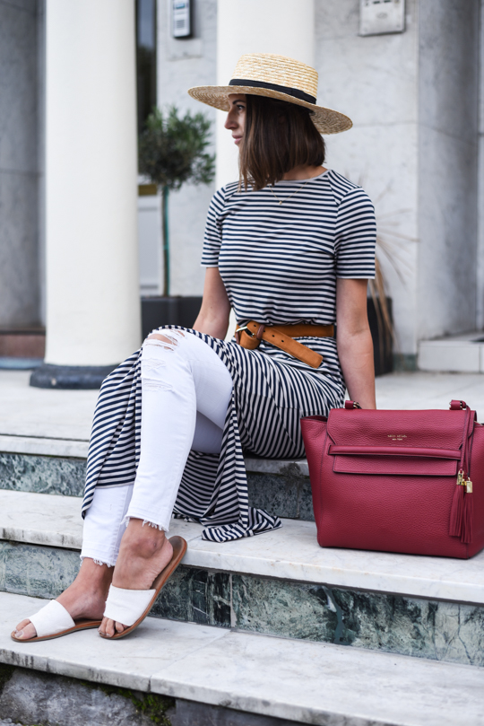 Henri Bendel Bedford satchel & J Brand white demented jeans - Thankfifi Scottish fashion blog-17
