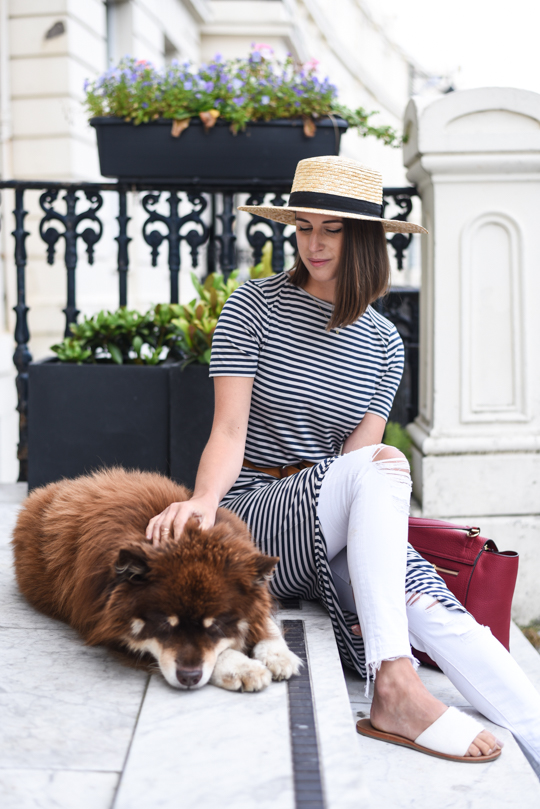 Henri Bendel Bedford satchel & J Brand white demented jeans - Thankfifi Scottish fashion blog-6