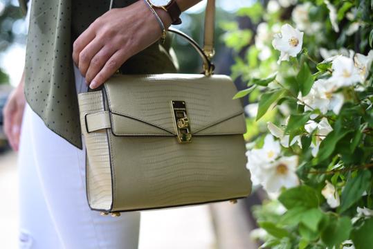 Henri Bendel Uptown Mini Lizard Satchel bag - Thankfifi Scottish fashion blog - Thankfifi Scottish fashion blog