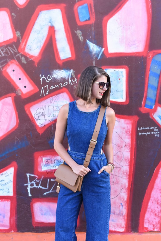New Look cutout denim jumosuit in Berlin - Thankfifi Scottish fashion travel blog-2