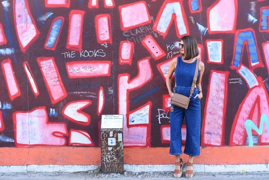 New Look cutout denim jumosuit in Berlin - Thankfifi Scottish fashion travel blog