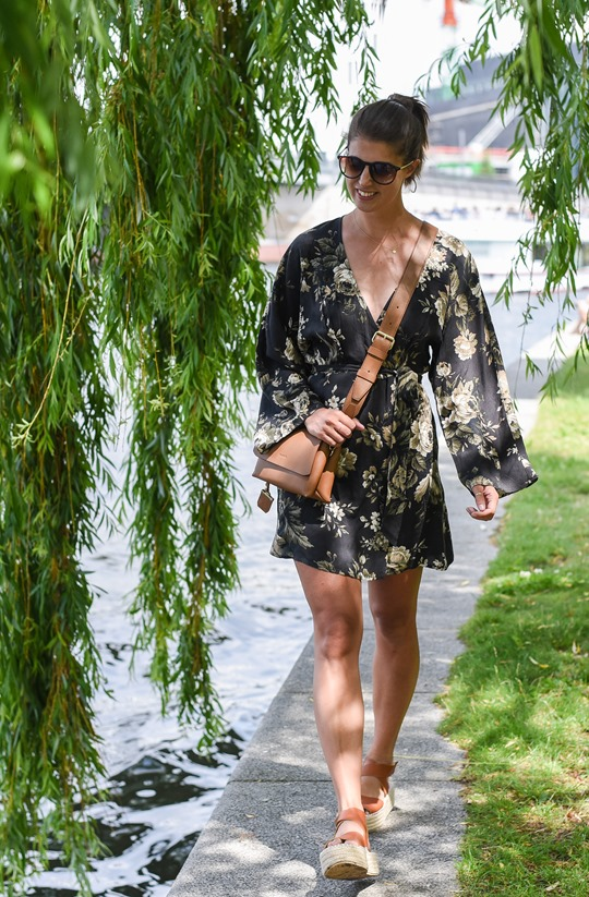 Ralph Lauren Denim & Supply floral mini dress in Berlin - Thankfifi Scottish fashion travel blog-2