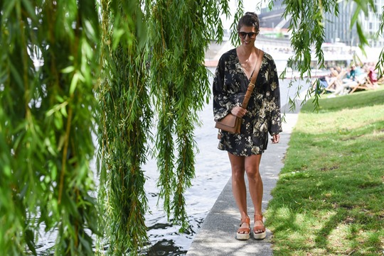 Ralph Lauren Denim & Supply floral mini dress in Berlin - Thankfifi Scottish fashion travel blog