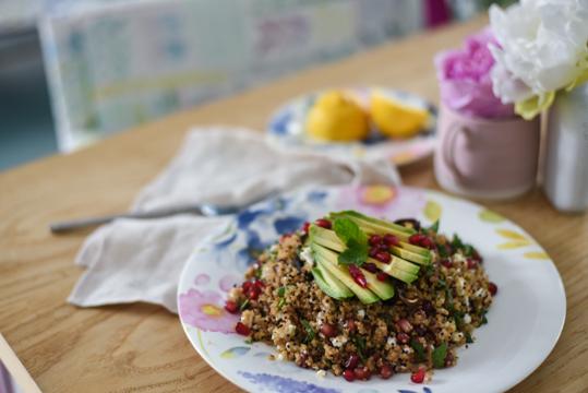 Superfood quinoa salad, bluebellgray Florrie china - Thankfifi Scottish food blog-4
