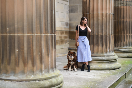 Zara stripe midi skirt - Thankfifi Scottish fashion blog-1