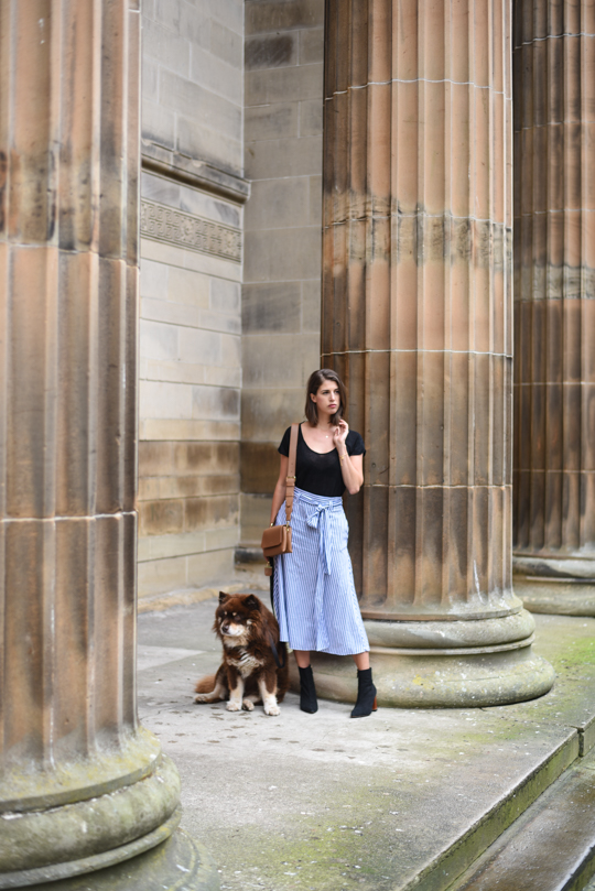 Zara stripe midi skirt - Thankfifi Scottish fashion blog-3