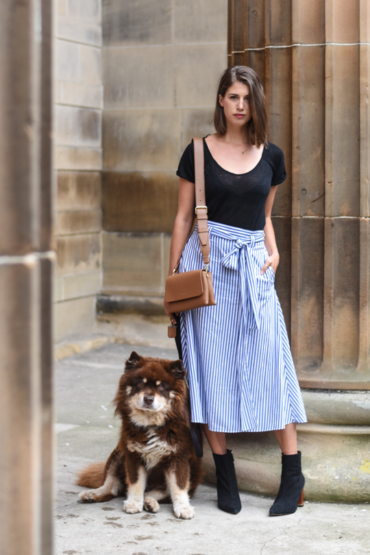 Zara stripe midi skirt - Thankfifi Scottish fashion blog-4