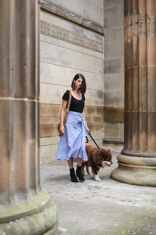 Zara stripe midi skirt - Thankfifi Scottish fashion blog-8
