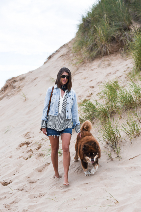 Balmedie beach in Joules Cicely blouse - Thankfifi Scottish travel blog-2