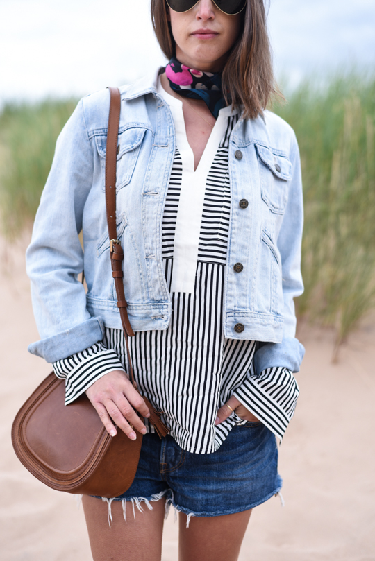 Balmedie beach in Joules Cicely blouse - Thankfifi Scottish travel blog-3
