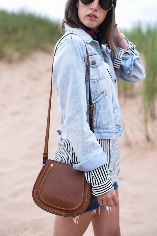 Balmedie beach in Joules Cicely blouse - Thankfifi Scottish travel blog-4
