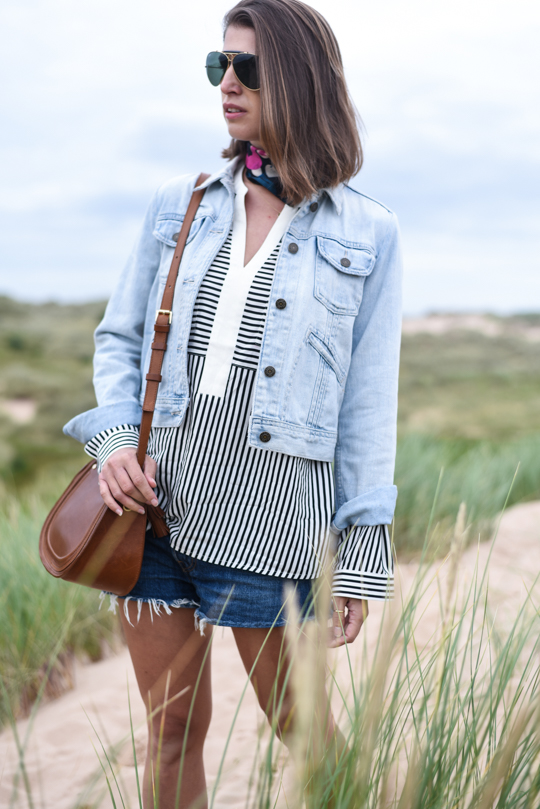 Balmedie beach in Joules Cicely blouse - Thankfifi Scottish travel blog-5