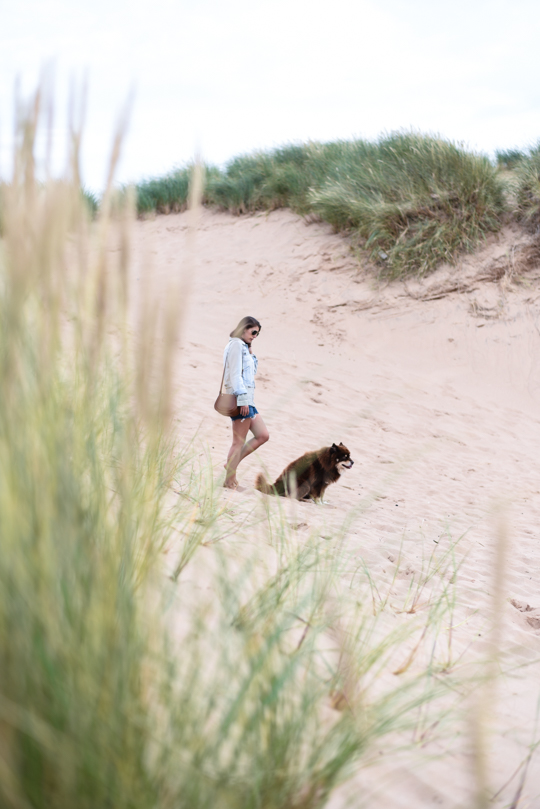 Balmedie beach in Joules Cicely blouse - Thankfifi Scottish travel blog-6