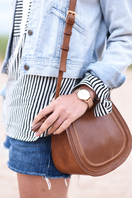 Boden mini saddle bag & Vitae London watch - Thankfifi Scottish travel blog