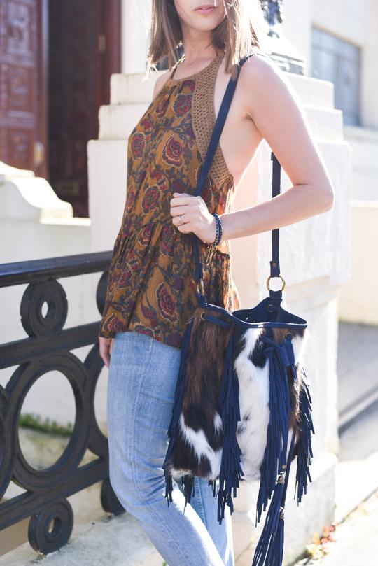 Crimson Bags Palermo green ponyskin fringe boho bag - Thankfifi Scottish fashion blog-12