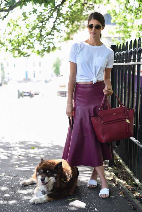 LK Bennett Leather midi skirt - Thankfifi Scottish fashion blog-13