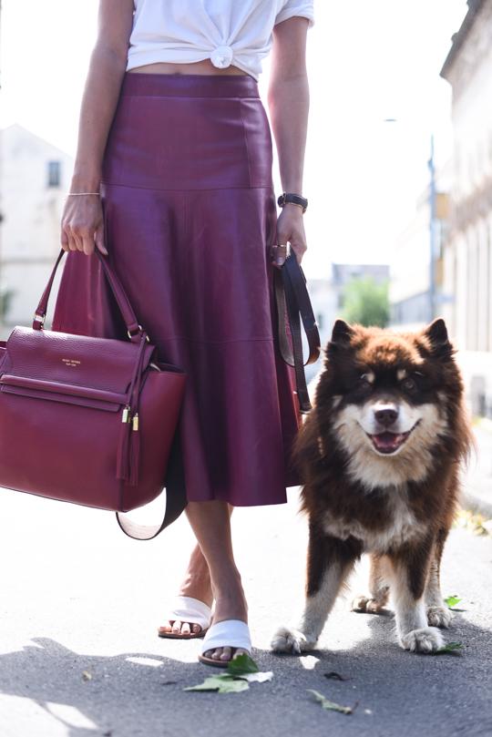 LK Bennett Leather midi skirt - Thankfifi Scottish fashion blog-3