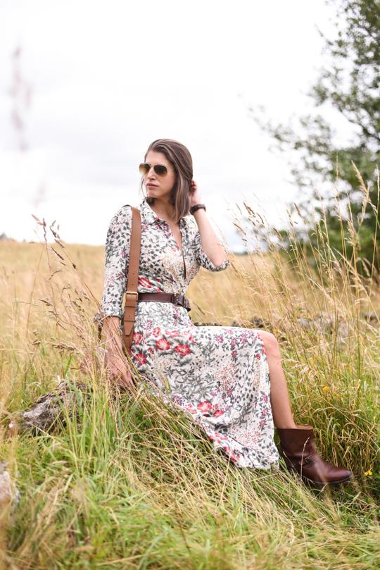 Zara floral button maxi dress - Thankfifi Scottish fashion blog-1