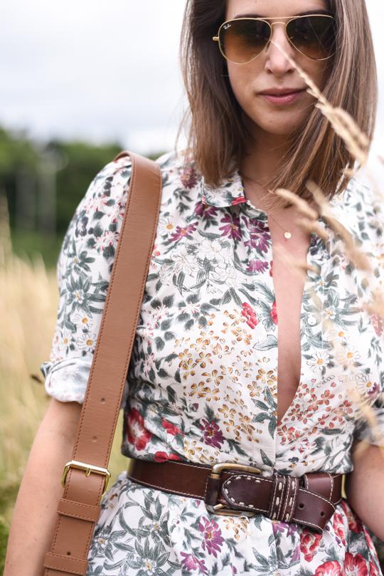 Zara floral button maxi dress - Thankfifi Scottish fashion blog-10