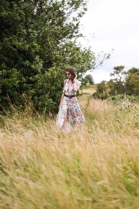 Zara floral button maxi dress - Thankfifi Scottish fashion blog-12